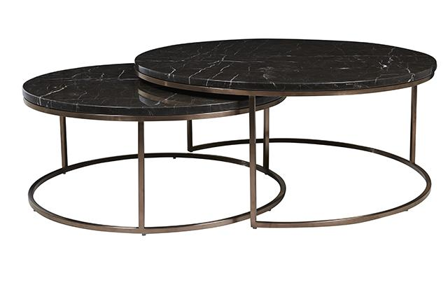 Elle Round Marble Nest Coffee Tables by GlobeWest Make Your
