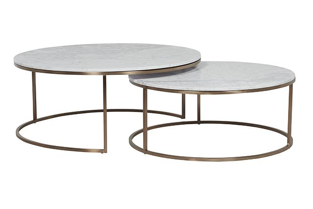 Elle round marble nest coffee tables by globewest make your house a home bendigo central victoria Round marble coffee tables