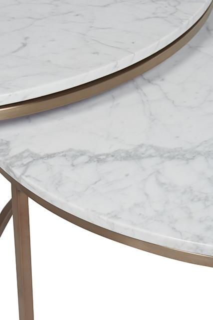 Elle Round Marble Nest Coffee Tables By Globewest Make