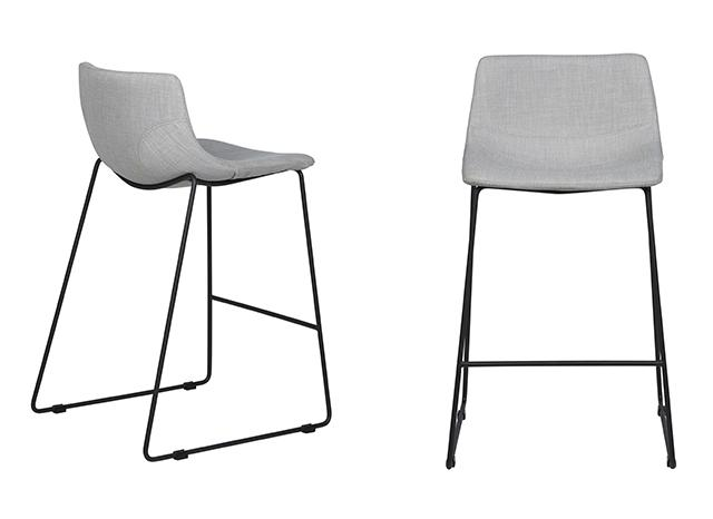levi barstool pearl grey with balck frame