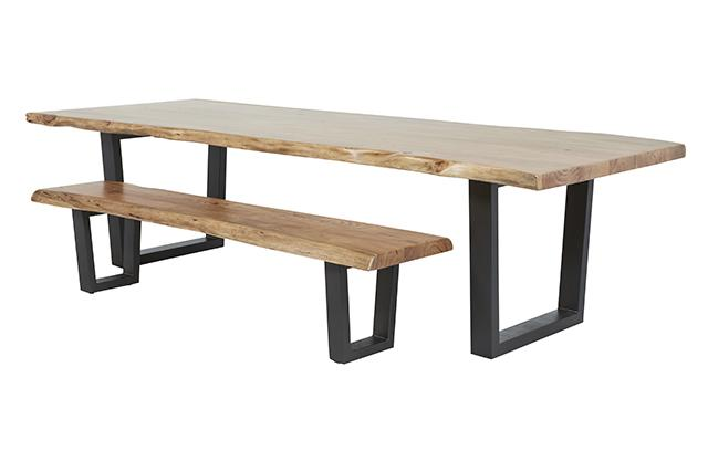 Shelter Arc Dining Table, Shelter Arc Dining Table With Matching Bench Seat  ...