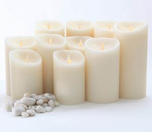 Ivory Luminara Flicker LED Candle