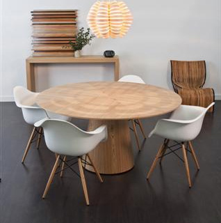 Classique round dining table by globe west make your
