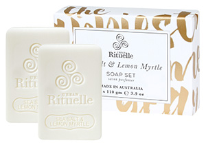 Sea Salt & Lemon Myrte Soap Set