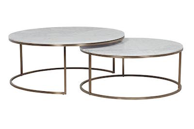 Elle Round Marble Nest Coffee Tables by GlobeWest   Make Your House a