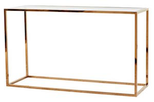 Elle Cube Console Table (Brass/Glass)