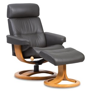 Nordic 81 recliner/stool (ring base) in any Prime Leather