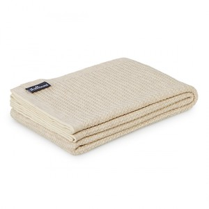 Wool knit sand throw