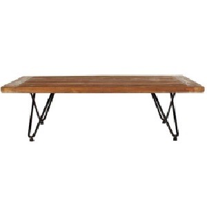 aspen metal trim coffee table