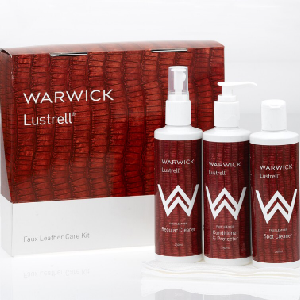 Lustrell faux leather care kit by Warwick
