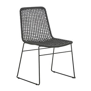 Olivia Open Weave Dining Chair - Black
