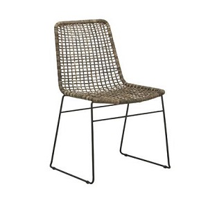 Olivia Open Weave Dining Chair - G/Wash