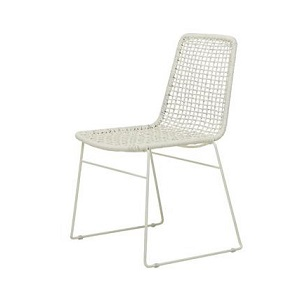 Olivia Open Weave Dining Chair - White