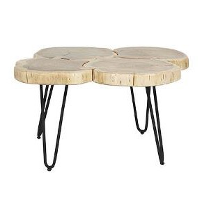 shelter log coffee table