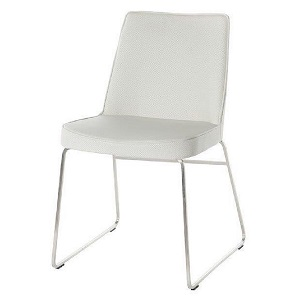 Marnie Dining Chair - White/SS base