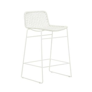 Olivia Open Weave Bar Stool - White