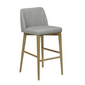 Rosie Bar Stool - Cool Grey