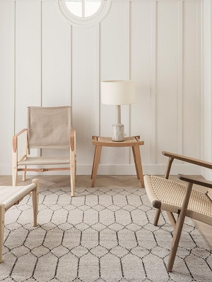 Tangier Rug - Limestone by Armadillo