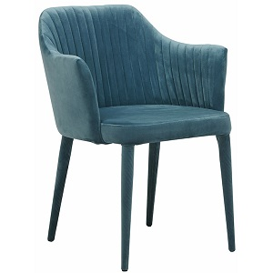 Carter Armchair - Teal Velvet