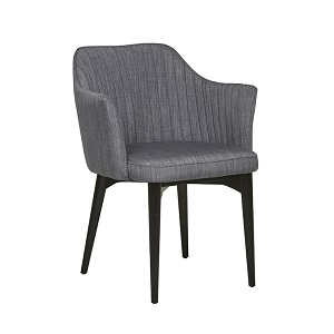 Carter Timber Leg Arm Chair - Fossil Grey/Black