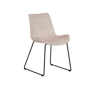 Cleo Sleigh Dining Chair - Pink