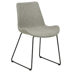Cleo Sleigh Dining Chair - Woven Putty