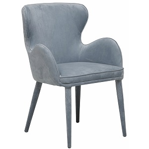 Daphne Arm Chair - Dust Blue Velvet