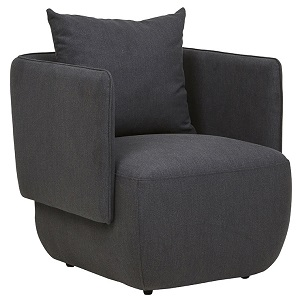 Felix Cocoon Occasional Chair - Charcoal Marle