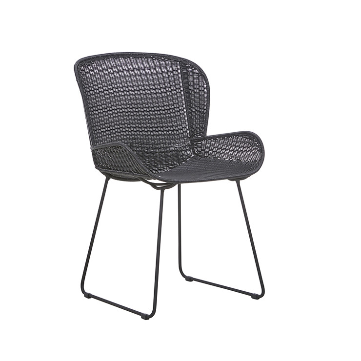 Granada Butterfly Closed Dining Chair - Licorice