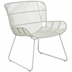 Granada Butterfly Occasional Chair - Light Grey