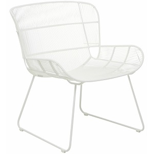 Granada Butterfly Occasional Chair - White