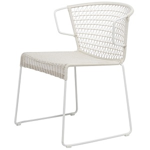 Granada Rhodes Arm Chair - Chalk & White