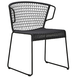 Granada Rhodes Arm Chair - Licorice
