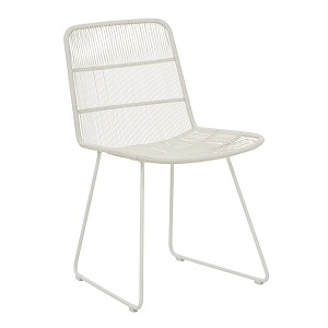 Granada Sleigh Dining Chair - Light Grey