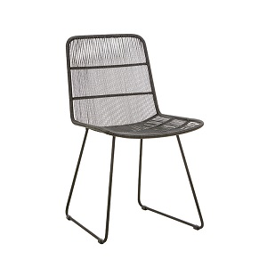 Granada Sleigh Dining Chair - Licorice