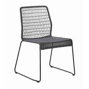Granada Twist Dining Chair - Black