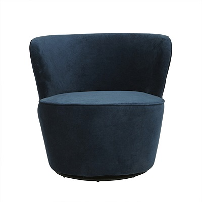 Kennedy Swivel Occasional Chair - Navy Blue