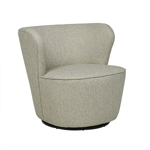 Kennedy Swivel Occasional Chair - Pebble