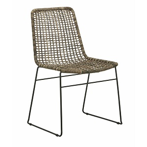 Olivia Open Weave Dining Chair - Greywash