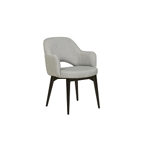 Oscar Timber Leg Arm Chair - Cool Grey