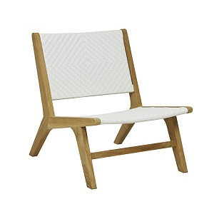 Sonoma Woven Occasional Chair - White