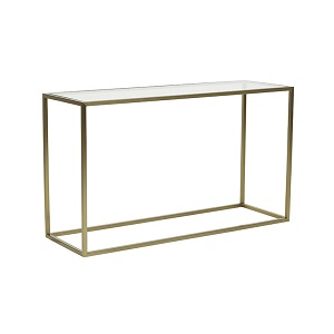 Elle Cube Console 120cm - Brushed Gold