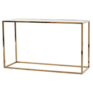 Elle Cube Console 180cm - Brushed Gold