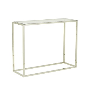 Elle Cube Console 90cm - Stainless Steel