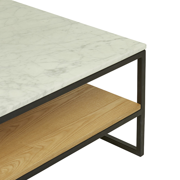 Marble Coffee Table Australia: Baxter Marble Shelf Coffee Table