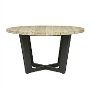 Granada Beach Round Dining Table - Driftwood & Graphite