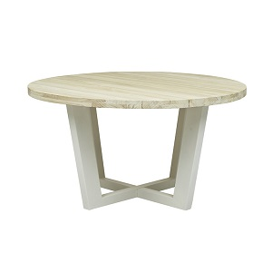 Granada Beach Round Dining Table - Driftwood & White