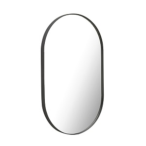 Elle Oval Mirror - Black