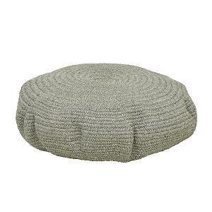 Granada Handwoven Oval Ottoman - Light Grey