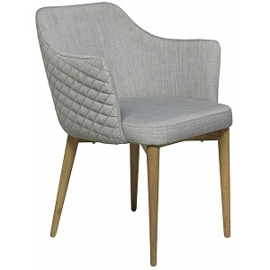 Carter Diamond Armchair - Cool Grey